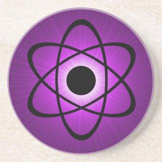 Nerdy AtomUntersetzer, lila Getränkeuntersetzer
