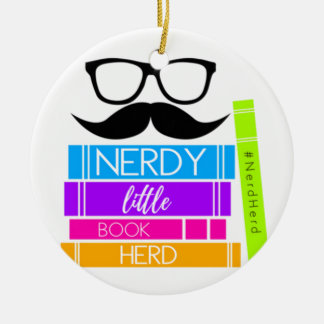 Nerdy kleine Buch-Herde Keramik Ornament