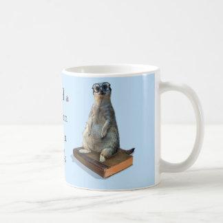 Nerdy Meerkat, Hipster, goofy, Bibliothekar, Kaffee Tassen