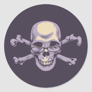 Nerdy Pirat Runder Aufkleber