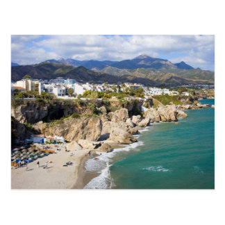 Nerja-Küstenlinie in Spanien Postkarte