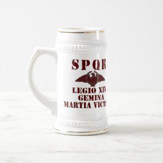 """Neros 14. """"Mars-Victorious"""" römische Legion Stein Bierglas"""