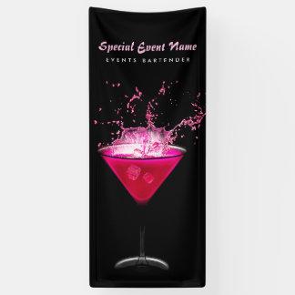 Nervöse schwarzes und rosa Spritzen-als Barmixer Banner