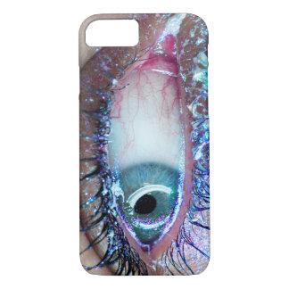 Nervöser Glitter-naher hoher Augen-Telefon-Kasten iPhone 8/7 Hülle