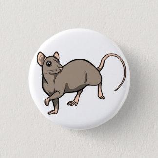 Nerz-Ratten-Abzeichen Runder Button 2,5 Cm