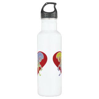 Nerz-Tasse Runequine Herz-mittlere Wasser-Flasche Trinkflasche