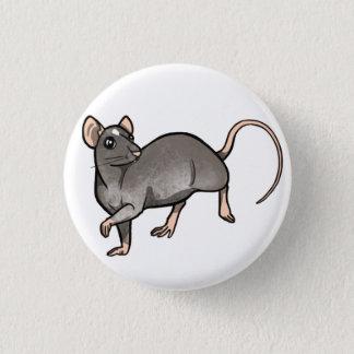 Nerzessex-Ratten-Abzeichen Runder Button 3,2 Cm