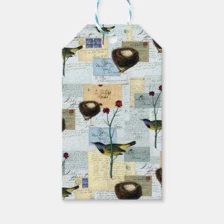 Nester und Vögelchen - Etiketts für Geschenke Geschenkanhänger