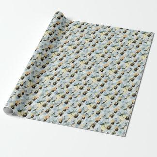 Nester und Vögelchen Geschenkpapier