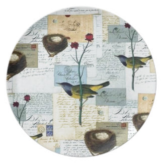 Nester und Vögelchen Melaminteller
