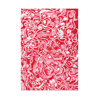 Nestled Kiesel-roter Leinwanddruck