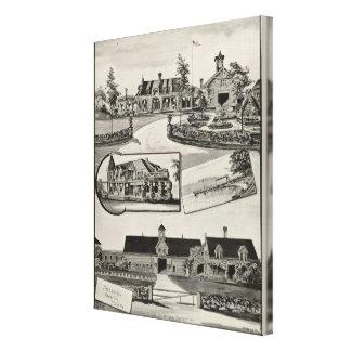 Nestledown Zebley Bauernhof Gespannter Galeriedruck