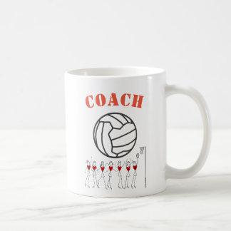Netball-Ball-themenorientierter Team-Zug Kaffeetasse