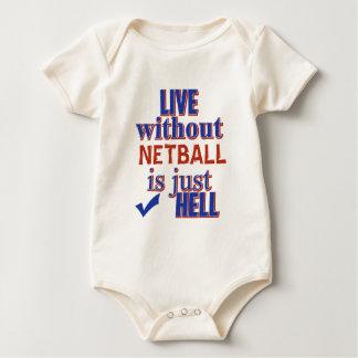 NETBALL-ENTWURF BABY STRAMPLER