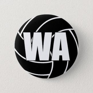 Netball-Flügel-Angriff WA Runder Button 5,1 Cm