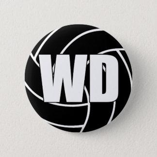 Netball-Flügel-Verteidigung WD Runder Button 5,7 Cm