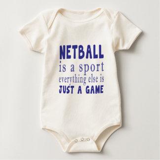 NETBALL GERADE EIN SPIEL BABY STRAMPLER