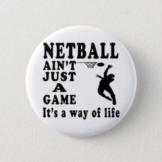 Netball ist nicht gerade ein Spiel, das es eine Runder Button 5,7 Cm