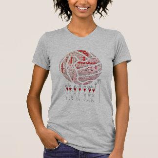 Netball und Positions-Ball-Entwurf T-Shirt