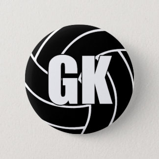 Netball-Ziel-Wächter GK Runder Button 5,1 Cm