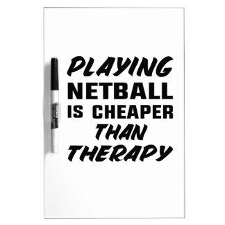 Netball zu spielen ist billiger als Therapie Memoboard