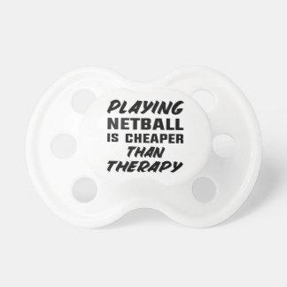 Netball zu spielen ist billiger als Therapie Schnuller