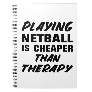 Netball zu spielen ist billiger als Therapie Spiral Notizblock
