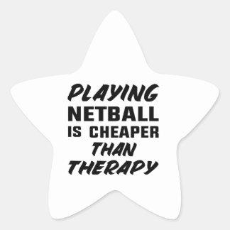 Netball zu spielen ist billiger als Therapie Stern-Aufkleber