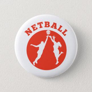 Netballspieler, der für Ball zurückprallt Runder Button 5,7 Cm