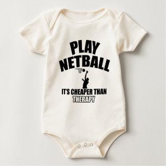 Netballspielerentwürfe Baby Strampler
