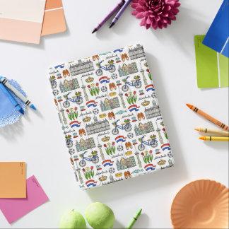 Netherland Gekritzel-Muster iPad Smart Cover