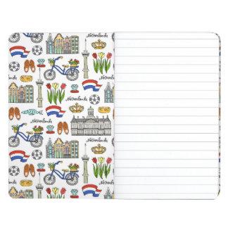 Netherland Gekritzel-Muster Taschennotizbuch