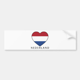 Netherland Heart with black NEDERLAND Autoaufkleber