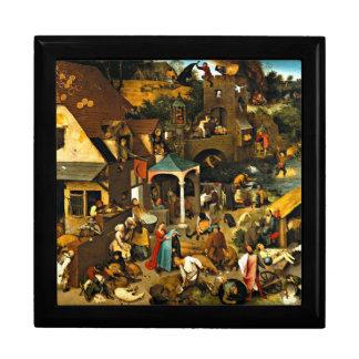 Netherlandish Sprichwörter, Malerei Pieter Bruegel Geschenkbox