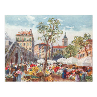 Nett, Frankreich-Blumen-Markt Postkarte