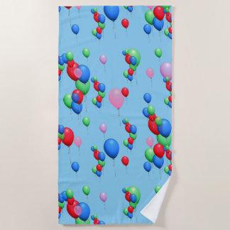 Nette bunte Ballone Strandtuch
