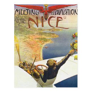 Nette Frankreich-Luftfahrt-Plakat-Kunst Postkarte