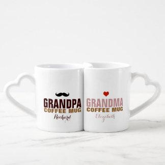 nette Idee des Opas u. des grandmom Liebestassen