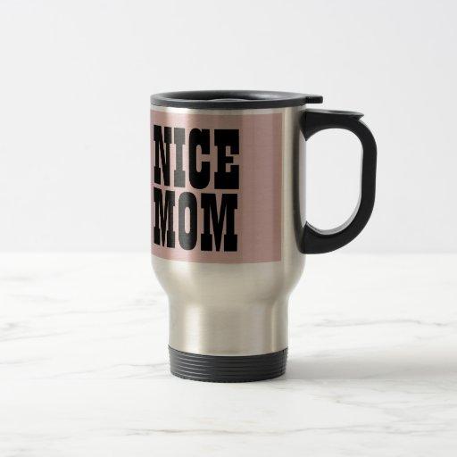 NETTE MAMMA kundenspezifische rosa Geschenkartikel Kaffeetassen
