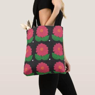 Nette rosa handgemalte WUNDERLICHE BLUME Tasche