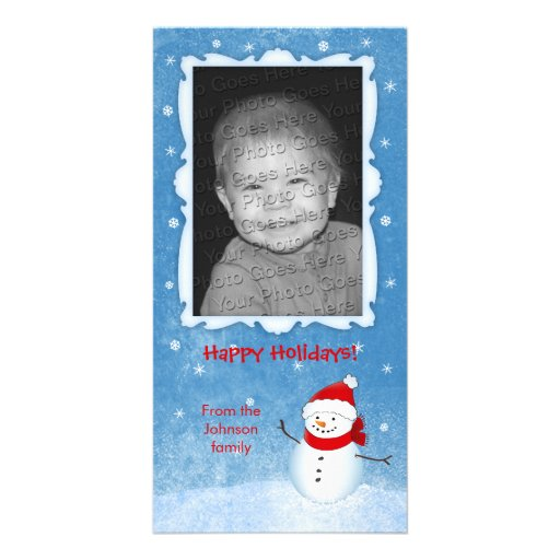 Nette Schneemann-Feiertags-Karte Photokarten