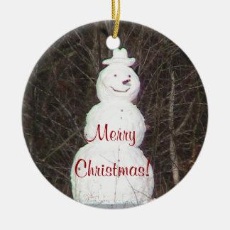 Nette Schneemann-Verzierung Weihnachtsbaum Ornament