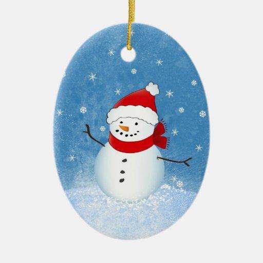 Nette Schneemann-Verzierung Weihnachtsbaum Ornamente