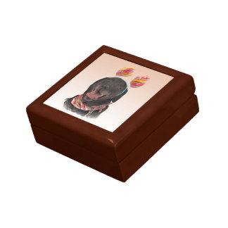 Nette schwarze geschenkbox