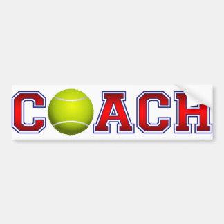 Nette Trainer-Tennis-Insignien Autoaufkleber