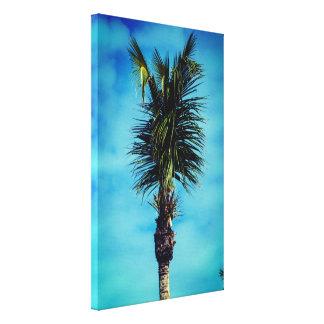 Nette u. einfache Palme-Vertikale Leinwanddruck