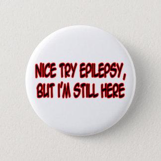 Nette Versuch-Epilepsie… Runder Button 5,1 Cm