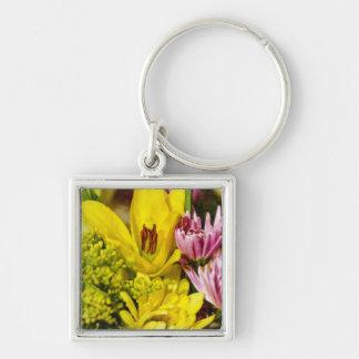 Netter Blumenstrauß Painterly Schlüsselanhänger