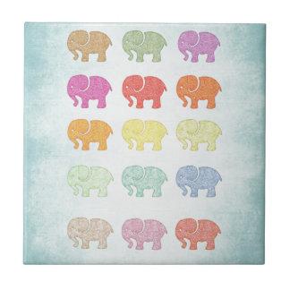 Netter entzückender girly niedlicher Elefant Fliese
