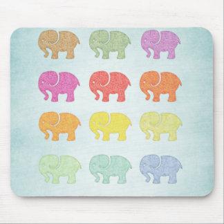 Netter entzückender girly niedlicher Elefant Mauspad